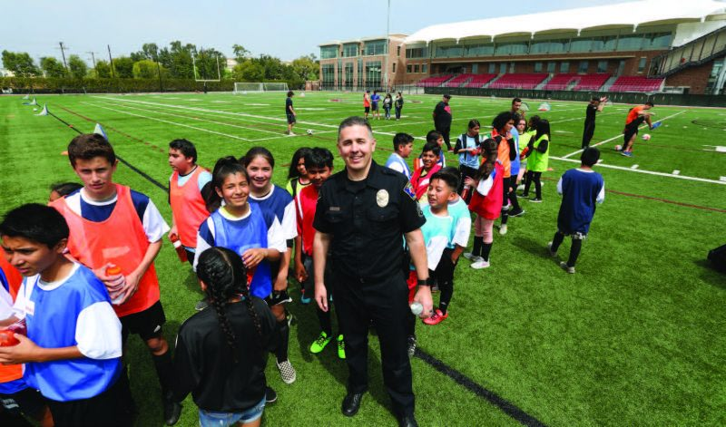 Chapman Welcomes Youth for Gang Prevention Soccer Camp