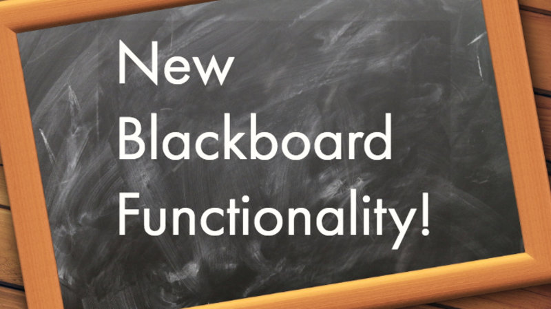 Blackboard Upgrade Highlights