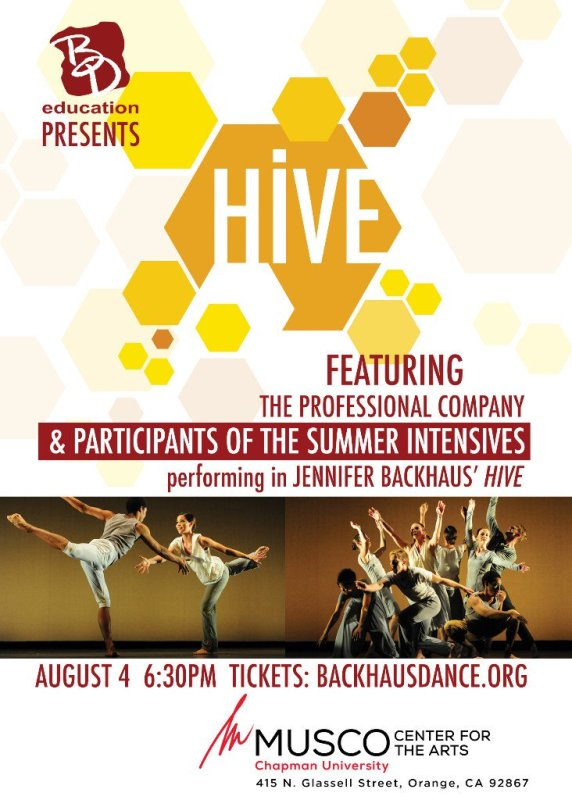 RT @backhausdance: ONE NIGHT ONLY! Don't Miss BD Education Presents: Hive (August 4) - https://t.co/6vbGIVF7n5 https://t.co/4WGYNZdzQQ