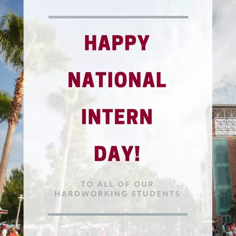 Happy #NationalInternDay to our hardworking students! https://t.co/fz9LWvJ1jQ