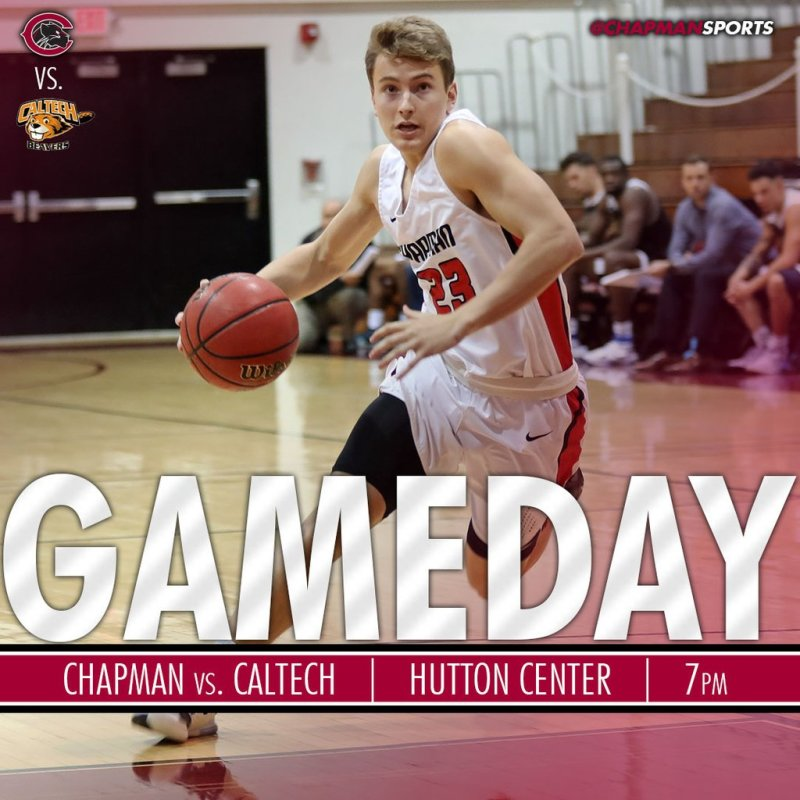 Men's basketball is back for some mid-week action against Caltech! #CUthere👀 #ChapmanU https://t.co/zwIMER2PmT