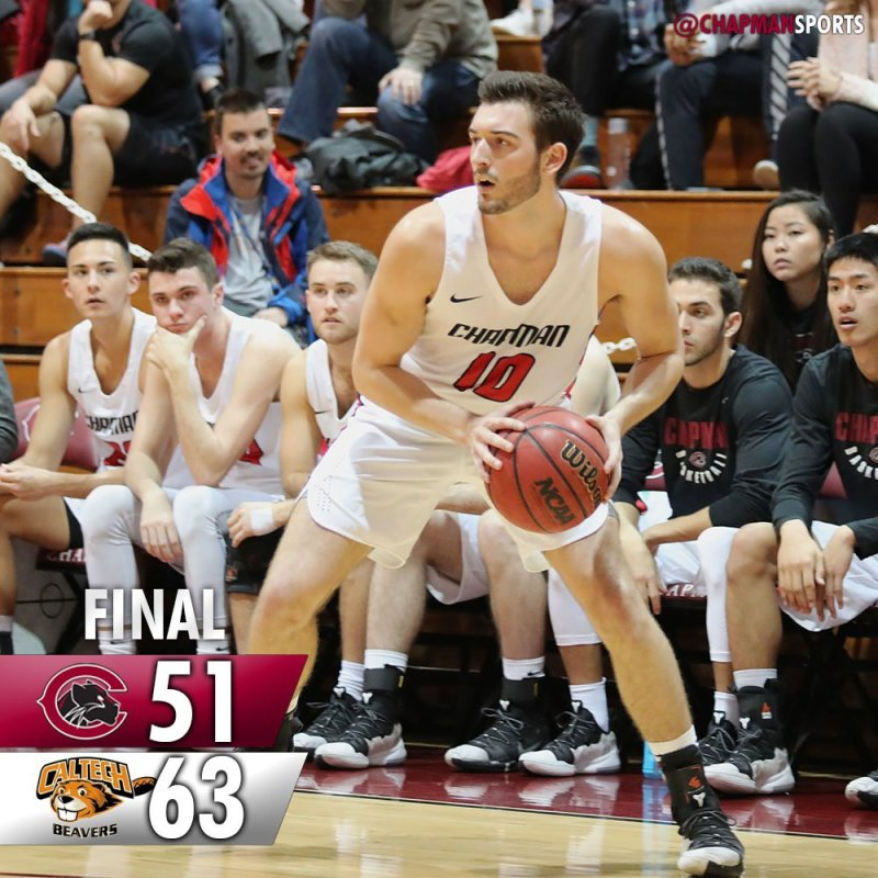 Tough one tonight. Back at home on Saturday against CMS. #weCUpanthers👀 #ChapmanU https://t.co/aBGAeTHVVQ