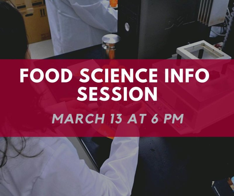 Sign up for Wednesday's Food Science Info Session and Keck Center Tour here: https://t.co/ybguEKyti2 https://t.co/BOUNjHqcnt