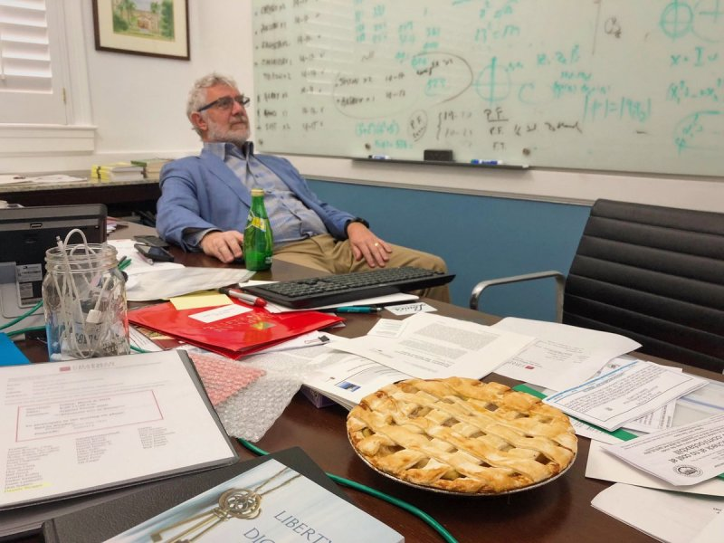 President Struppa always celebrates #PiDay the right way. #ChapmanU https://t.co/F4m51LJlcV