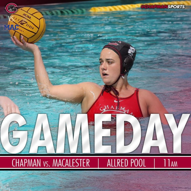 Women's water polo takes on Macalester today at 11am! #CUthere👀 #ChapmanU https://t.co/YZyDyPxPxl