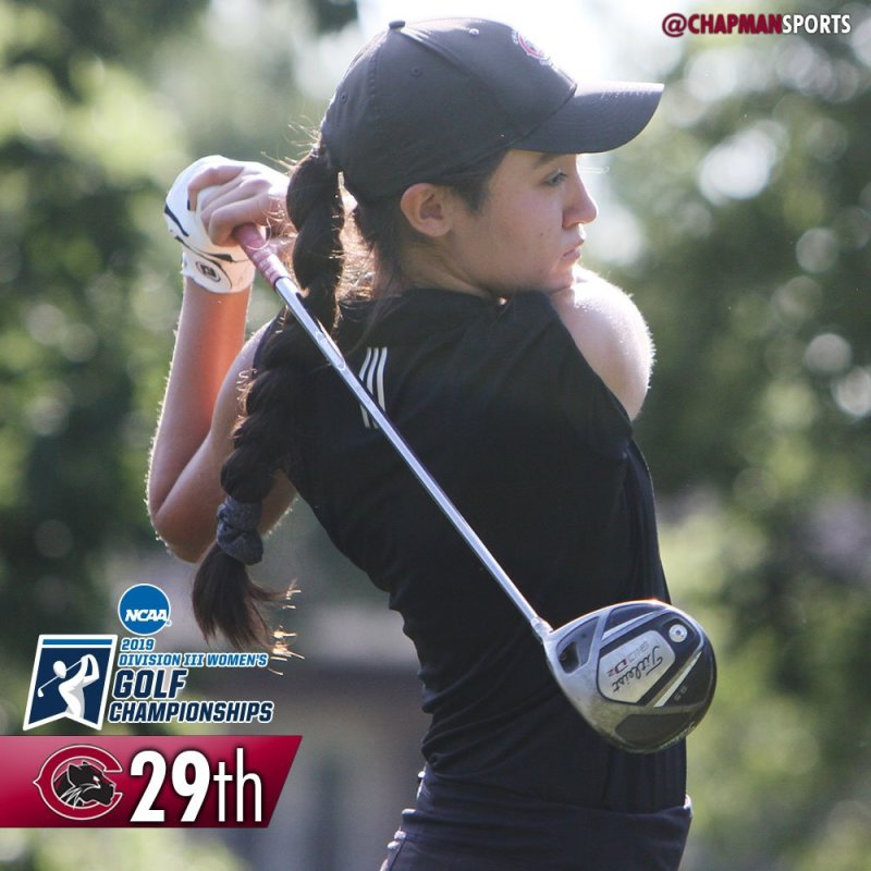 A solid opening round from Emily Lewis at the NCAA Championships! #weCUemily👀 #ChapmanU https://t.co/UTkycBxvsb