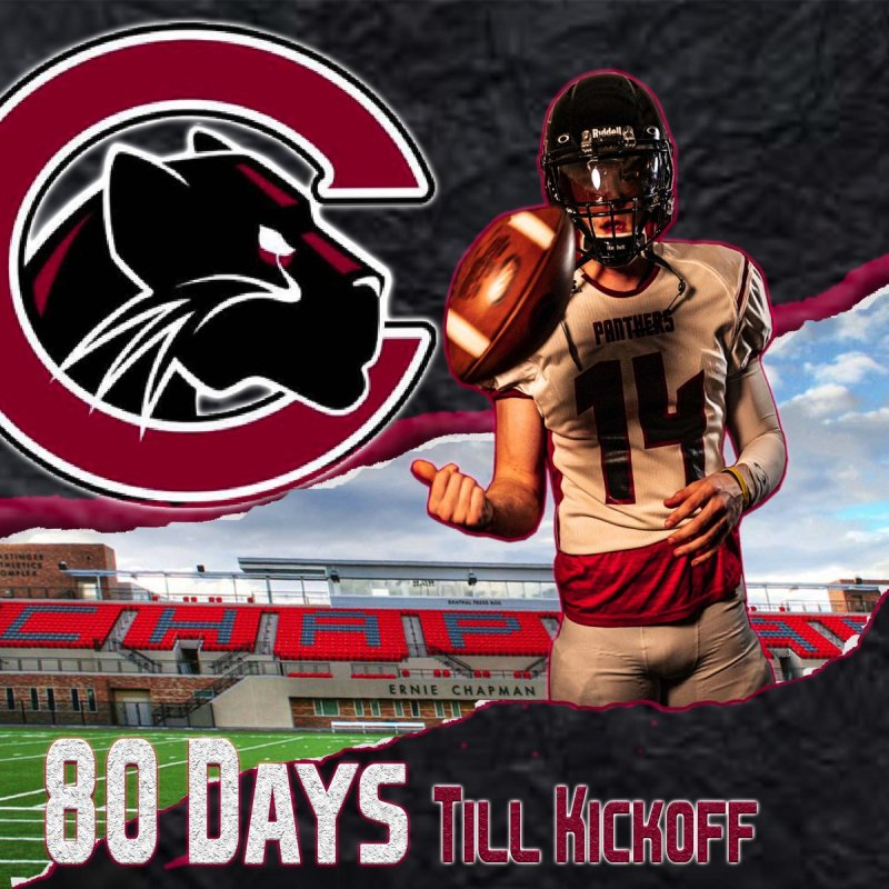 RT @Chapman_Fb: 80 days till panthers kickoff against Pacific University in Oregon. #defendthelegacy https://t.co/KymcJLAmhf