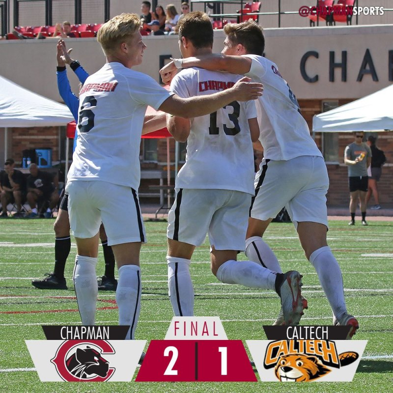 Jarod Matteoni scores both goals as the Panthers beat Caltech in overtime! #weCUjarod👀 #ChapmanU https://t.co/F9qeELtiZS