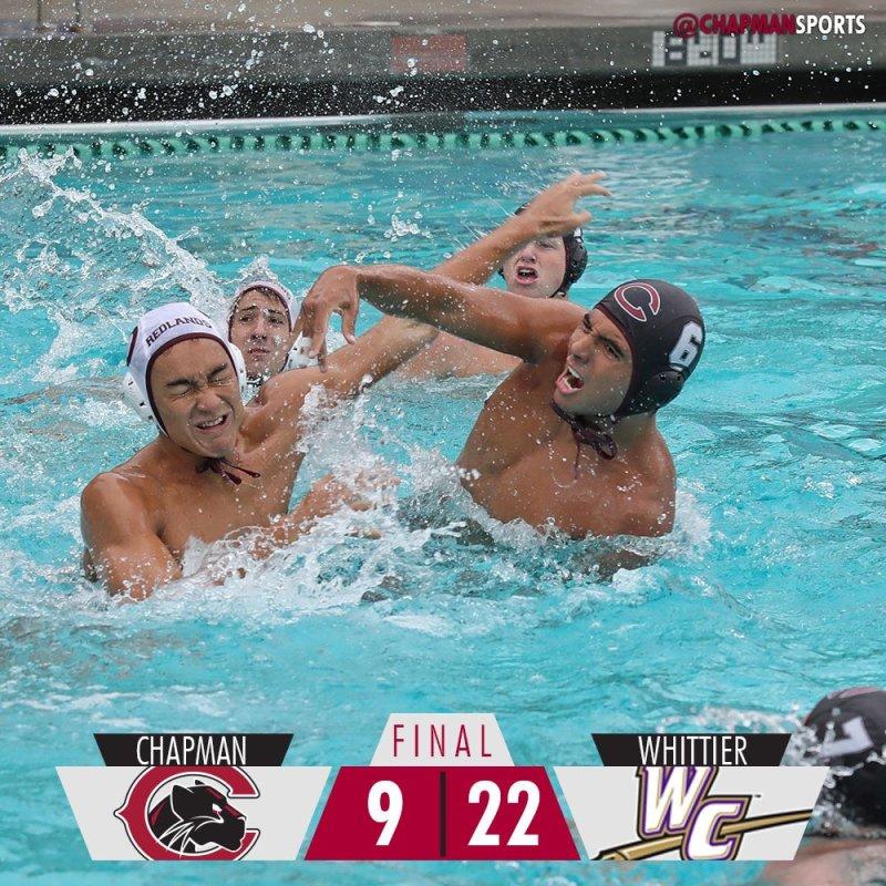 Men's water polo falls to Whittier in the final home match of the regular season. #ChapmanU https://t.co/MRwM5iwCd4