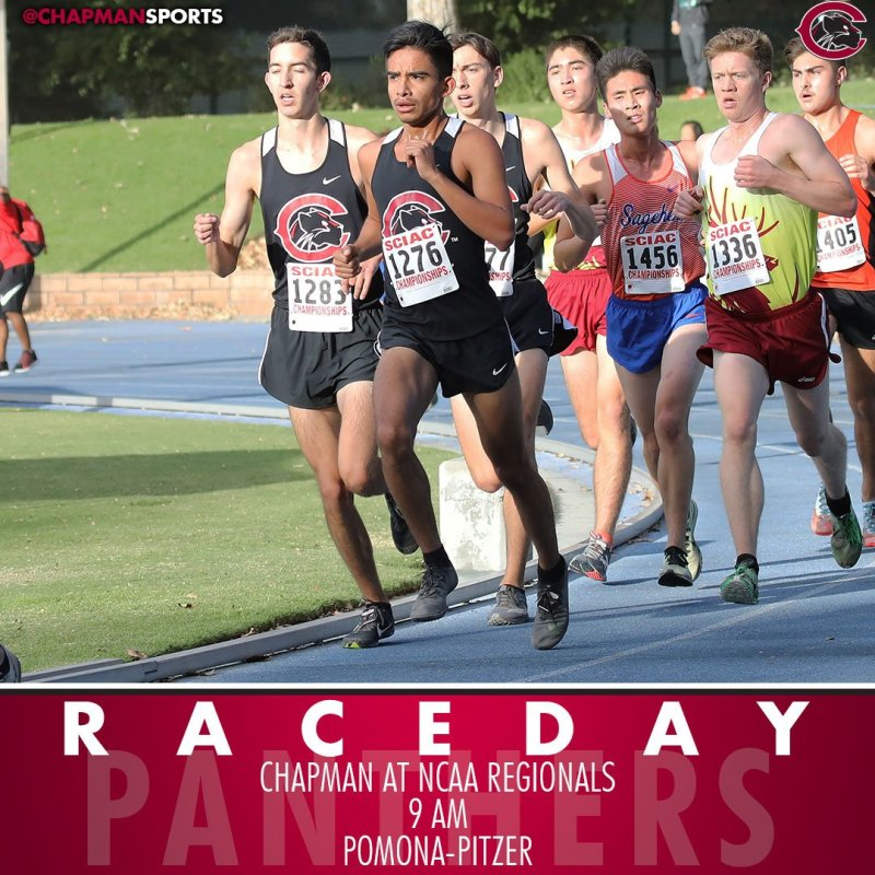 Cross country heads back to Pomona-Pitzer this morning for NCAA Regionals! #CUthere👀 #ChapmanU https://t.co/279j0mmZJc