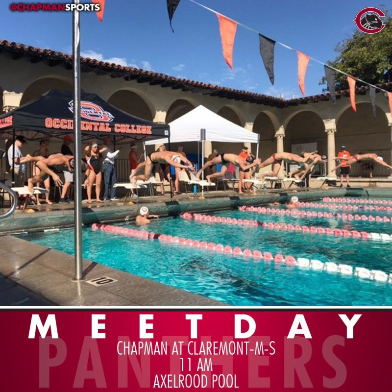 Swimming and diving head to CMS for the second dual meet of the season! #CUthere👀 #ChapmanU https://t.co/5DnSEJq7Fw