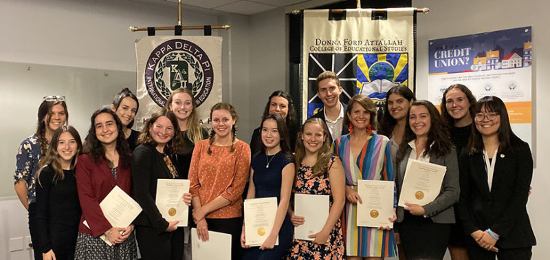 Chapman's Kappa Delta Pi Education Honor Society Welcomes New Initiates