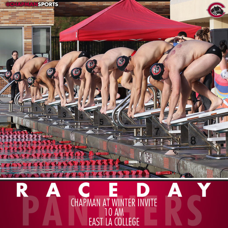 The swim & dive teams head to East LA College for the Collegiate Winter Invite! #CUthere👀 #ChapmanU https://t.co/qcwHJs8Fg6