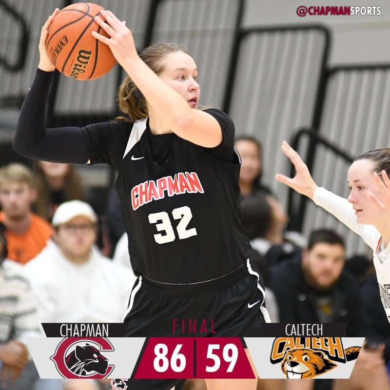Panthers cruise to a pair of wins on Saturday! #weCUpanthers👀 #ChapmanU #d3hoops #pawsupCU https://t.co/AoBG6GpduV