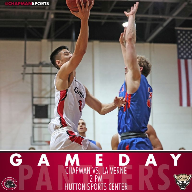 Men's and women's basketball take on La Verne in another SCIAC doubleheader! #CUthere👀 #ChapmanU https://t.co/0zAbuA7EDq