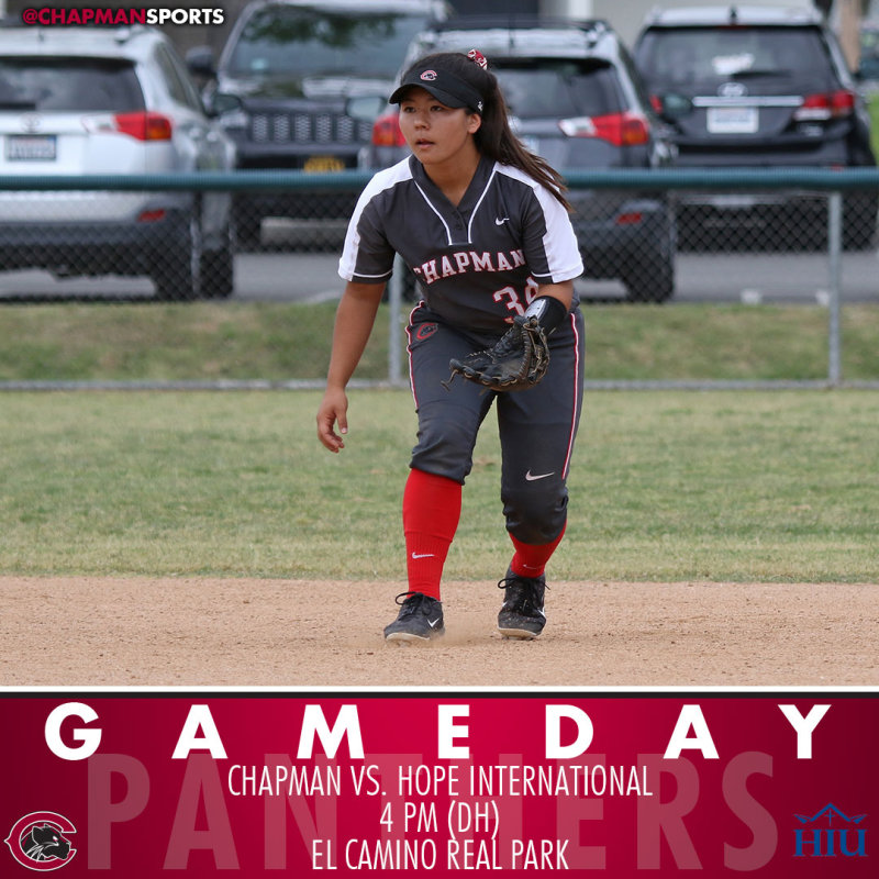 Back at it tonight at El Camino for a doubleheader wit hHope International. #CUthere👀 #ChapmanU https://t.co/vhU1Htvm3u