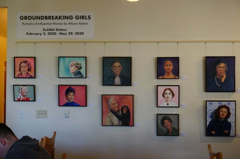 Groundbreaking Girls Exhibit in Doy and Dee Henley Reading Room