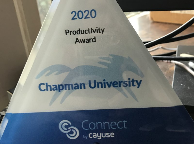 Chapman Office of Research Productivity Award