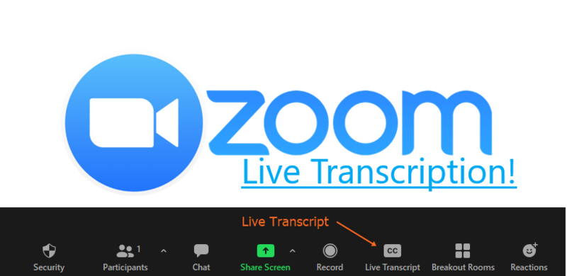Live Transcripts in Zoom