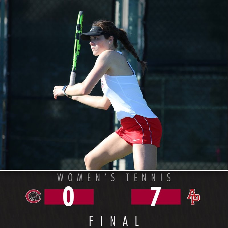 Chapman tennis is back in action! The women's team returned today against a tough APU squad. #ChapmanU #pawsup https://t.co/TTi5p89cZp