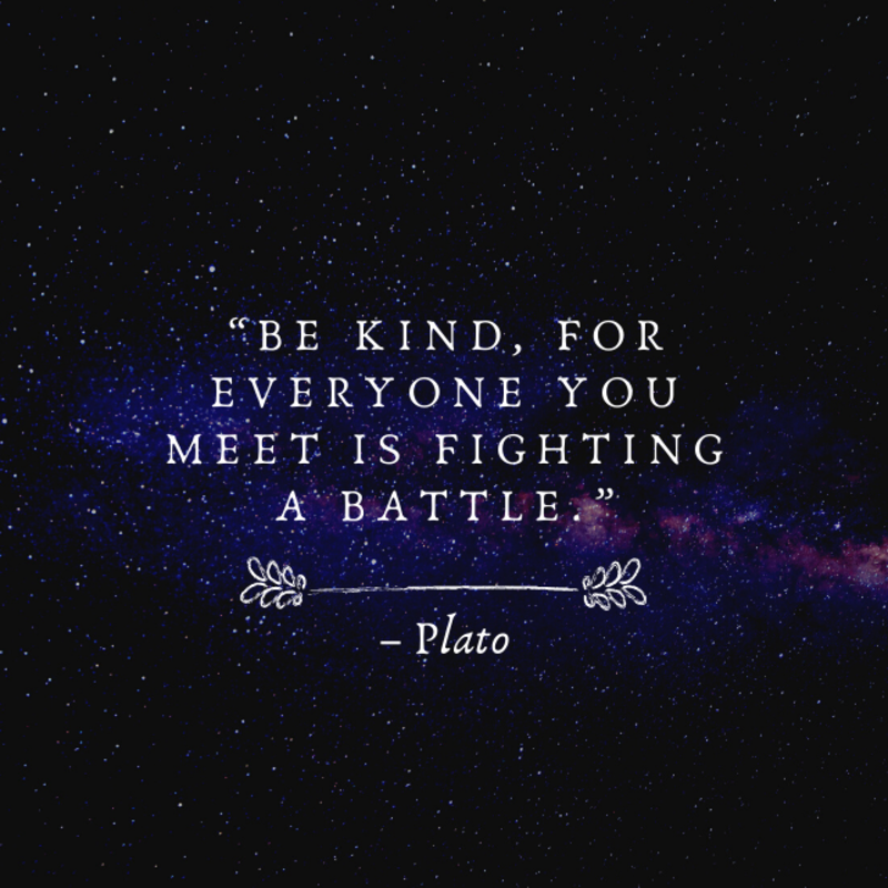 """""""Be kind, for everyone you meet is fighting a battle."""" – Plato #ThoughtfulTuesday https://t.co/g4HDKxkSU4"""