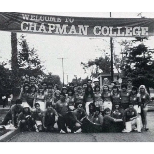 Photo: In 1983, our orientation staff welcomed new students to Chapman Col...