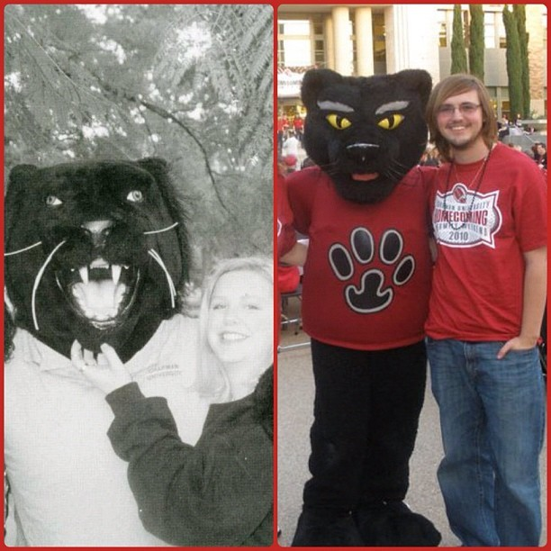 Photo: No matter the decade, Pete always has panther pride. #legacy #pride...