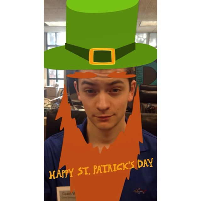Photo: Happy St. Patrick's Day, Panthers!!! Our own Grant W. has transform...