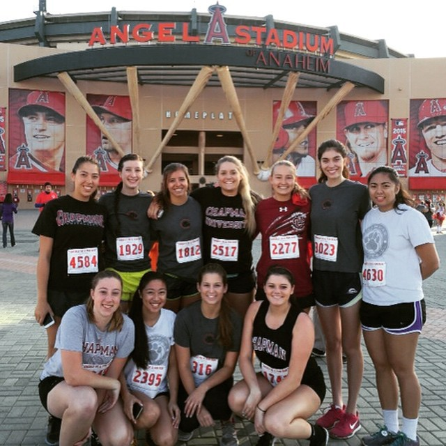 Photo: Members of the Chapman volleyball team took part in the #Angels5k t...