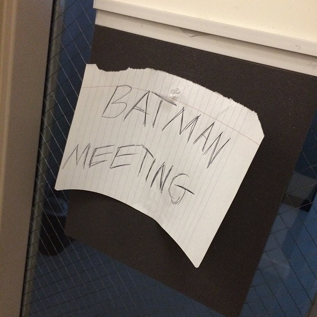 Photo: Important meetings going on today at #DodgeCollege. Just, don't tel...