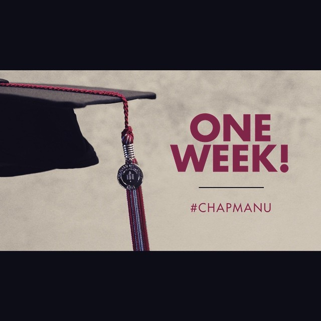 Photo: One week until the 2015 Commencement Ceremonies begin! Use #Chapman...