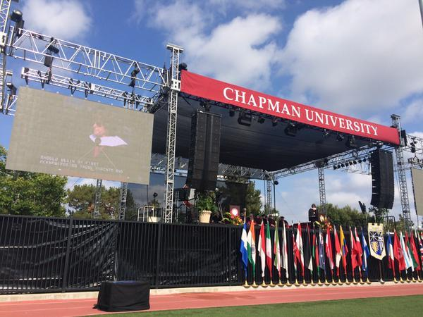 Photo: RT @QuaylanAllen: @HenryGiroux speaks at the @ChapmanCES Graduation...