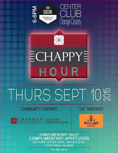 "Photo: This Thursday join alumni and current students for a ""Chappy Hour"" ..."
