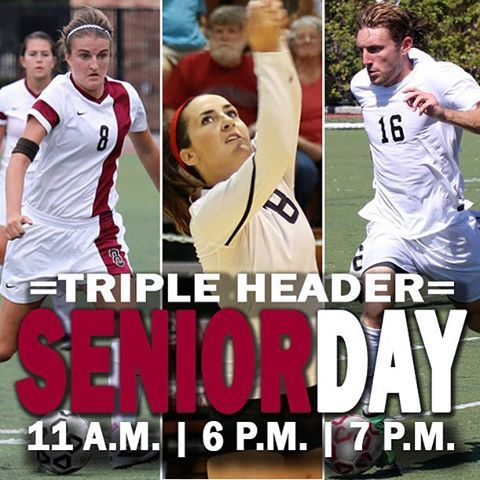 Photo: It's a Senior Day triple-header at #Chaptown!