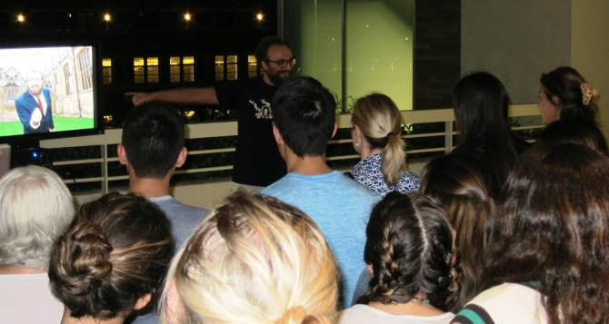Photo: Language students take Italian in hand for an e...