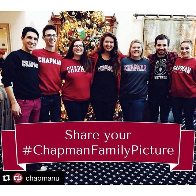 Photo: Repost @chapmanu ・・・ Show us who you celebrate the holidays with! S...