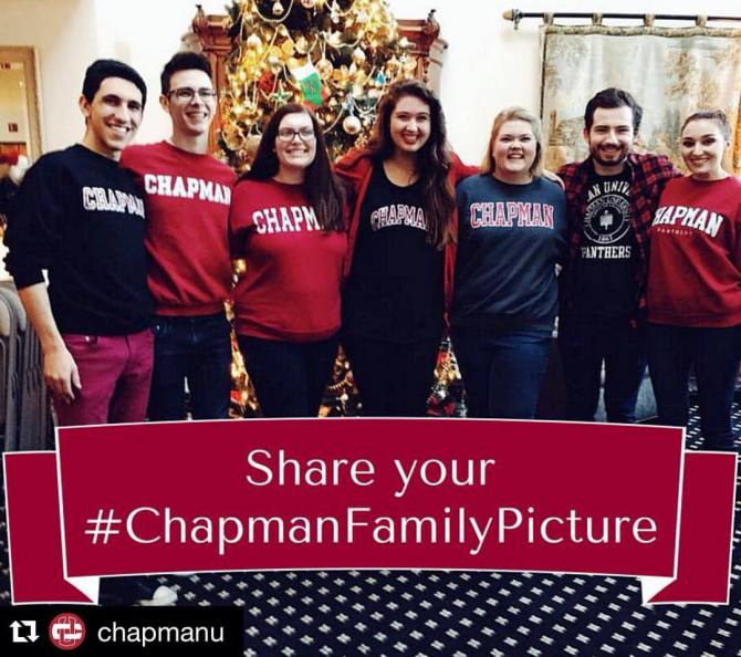 Photo: Repost @chapmanu  ・・・ Show us who you celebrate the holidays with! ...