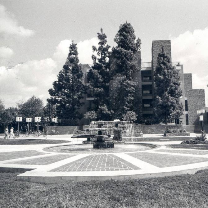 """Photo: #ThrowbackThursday to Gentle Spring Fountain and """"Hashinger Hall."""" ..."""