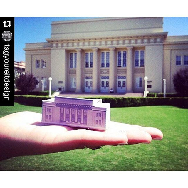 Photo: Alumna Lauren Armenta illustrated and made a mini Memorial Hall for...
