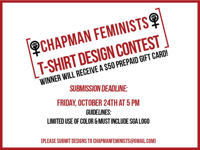 Photo: Chapman Feminists' T-Shirt Design Contest!