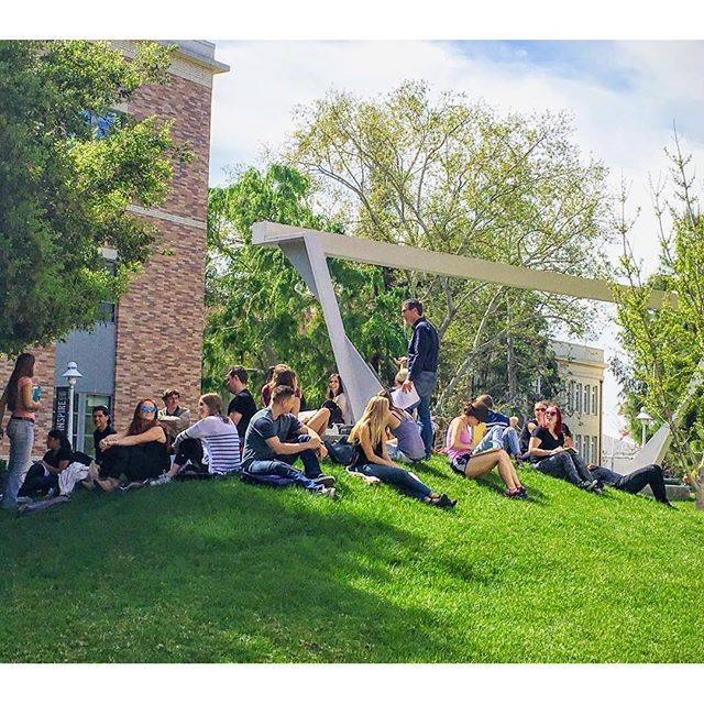 Photo: Sunny skies and class outside☀️ #ChapmanU #CaptureCU
