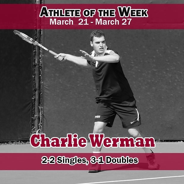 Photo: Congrats to our Athlete of the Week: Charlie Werman! The junior hel...