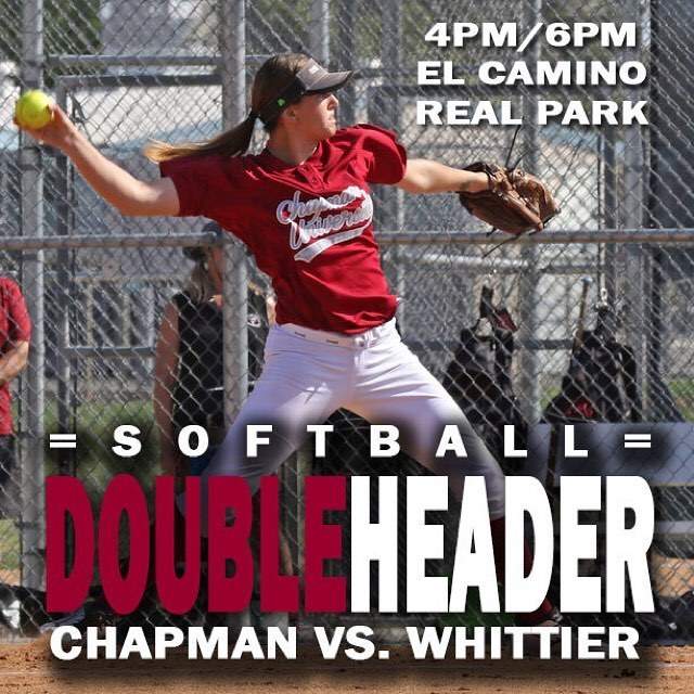 Photo: No rain today! Chapman hosts Whittier at 4pm in a makeup of the mak...
