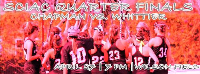 Photo: Women's lacrosse will host Whittier College on Wednesday night for ...
