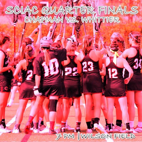 Photo: Women's LAX hosts Whitier tonight at 7PM in #theSCIAC quarterfinals...