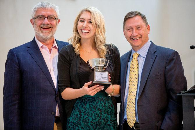 Photo: Emily Frisch '16 named Cheverton winner