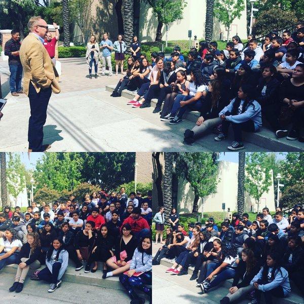 Photo: RT @heningerschool: Heninger film students meet with Chapman Univer...