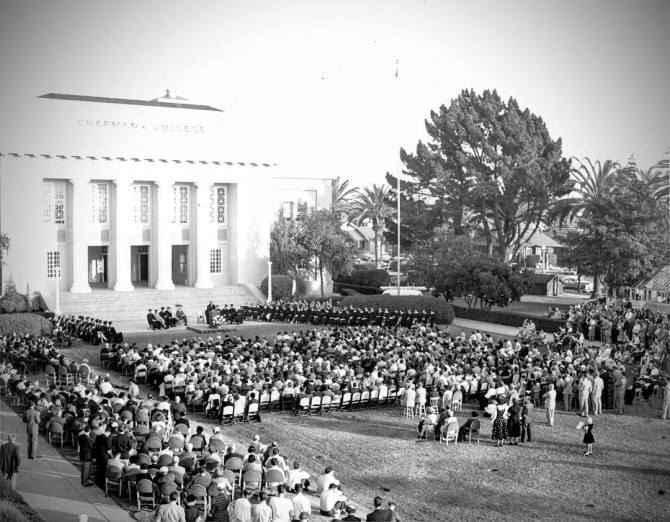 Photo: Chapman 2016 Commencement begins tomorrow! #ThrowbackThursday to th...