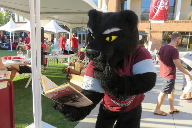Photo: Leatherby Libraries Homecoming Weekend: A Success!