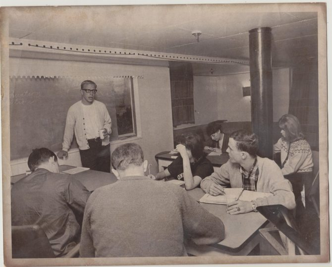 Photo: #TBT: Professor Bill Cumiford teaching on the MS Seven Seas in fall...